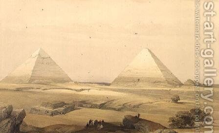 The Pyramids of Giza, from Egypt and Nubia, Vol.1 by David Roberts - Reproduction Oil Painting