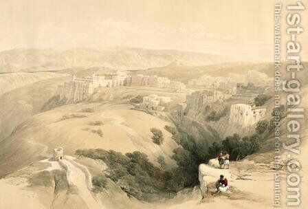 Bethlehem, April 6th 1839, plate 85 from Volume II of The Holy Land, engraved by Louis Haghe 1806-85 pub. 1843 by David Roberts - Reproduction Oil Painting