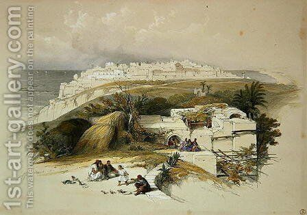 Jaffa, March 26th 1839, plate 62 from Volume II of The Holy Land, engraved by Louis Haghe 1806-85 pub. 1843 by David Roberts - Reproduction Oil Painting