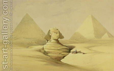 The Great Sphinx and the Pyramids of Giza, from Egypt and Nubia, Vol.1 2 by David Roberts - Reproduction Oil Painting