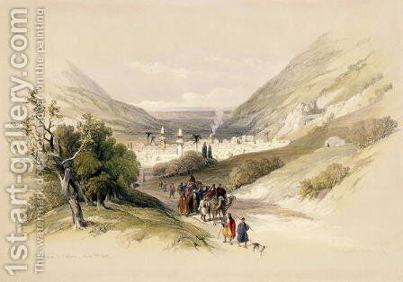 Entrance to Nablous, April 17th 1839, plate 41 from Volume I of The Holy Land, engraved by Louis Haghe 1806-85 pub. 1842 by David Roberts - Reproduction Oil Painting