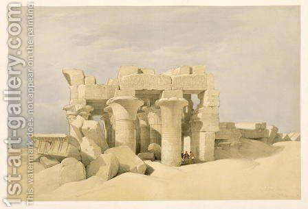 Temple of Sobek and Haroeris at Kom Ombo, from Egypt and Nubia, Vol.2 by David Roberts - Reproduction Oil Painting