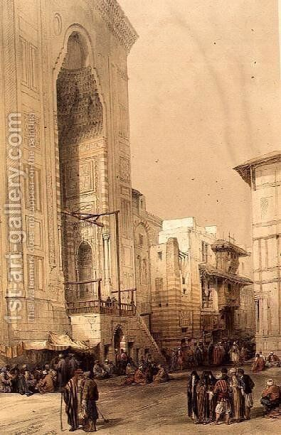 Grand Entrance to the Mosque of the Sultan Hasan, from Egypt and Nubia, Vol.3 by David Roberts - Reproduction Oil Painting