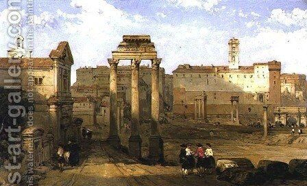 The Forum, Rome, 1859 by David Roberts - Reproduction Oil Painting