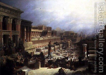 The Departure of the Israelites, 1829 by David Roberts - Reproduction Oil Painting