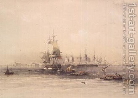 Approach to Alexandria, from Egypt and Nubia, Vol.3 by David Roberts - Reproduction Oil Painting