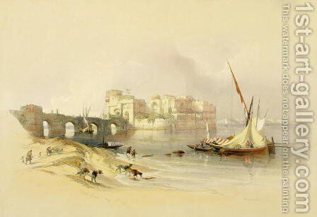 Citadel of Sidon, April 28th 1839, plate 76 from Volume II of The Holy Land, engraved by Louis Haghe 1806-85 pub. 1843 by David Roberts - Reproduction Oil Painting