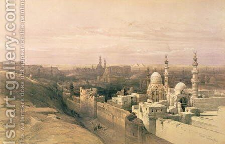 Cairo, looking west, book illustration from Sketches in Nubia, 1846-49 by David Roberts - Reproduction Oil Painting