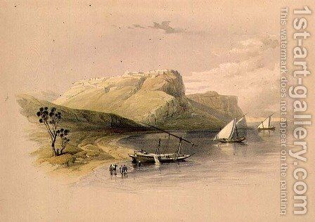 Fortress of Ibrim, Nubia, from Egypt and Nubia, Vol.1 by David Roberts - Reproduction Oil Painting