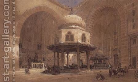 The Mosque of the Sultan Hassan, Cairo, 1839 by David Roberts - Reproduction Oil Painting