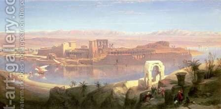 The Island of Philae, Nubia by David Roberts - Reproduction Oil Painting
