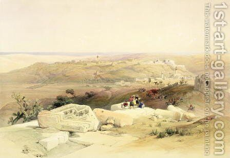 Gaza, March 21st 1839, plate 59 from Volume II of The Holy Land, engraved by Louis Haghe 1806-85 pub. 1843 by David Roberts - Reproduction Oil Painting