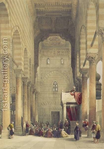 Interior of the Mosque of the Metwalys, Cairo, from Egypt and Nubia, Vol.3 by David Roberts - Reproduction Oil Painting