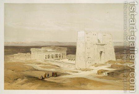 Temple of Edfu, ancient Apollinopolis, Upper Egypt, from Egypt and Nubia, Vol.1 by David Roberts - Reproduction Oil Painting