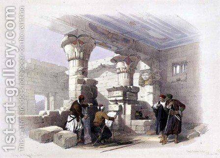 Deir Al-Madinah, Thebes, from Egypt and Nubia, Vol.1 by David Roberts - Reproduction Oil Painting