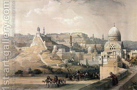 The Citadel of Cairo, from Egypt and Nubia, Vol.3 by David Roberts - Reproduction Oil Painting