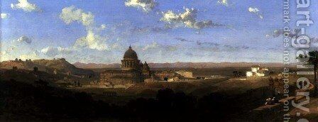 St. Peters, looking Back on Rome, 1853 by David Roberts - Reproduction Oil Painting