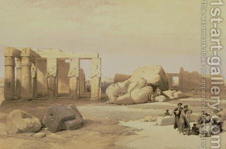 Fragments of the Great Colossus, at the Memnonium, Thebes, 1937 BC by David Roberts - Reproduction Oil Painting