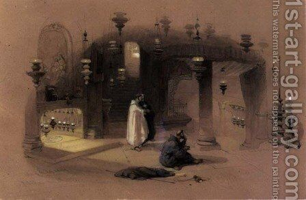The Shrine of the Holy Nativity, Bethlehem, 1839 by David Roberts - Reproduction Oil Painting
