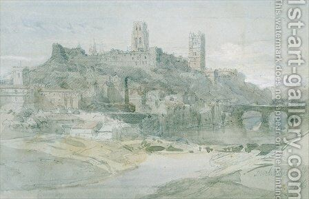 Durham, 1836 by David Roberts - Reproduction Oil Painting