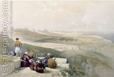 Askalon, plate 57 from Volume II of The Holy Land, engraved by Louis Haghe 1806-85 pub. 1843 by David Roberts - Reproduction Oil Painting
