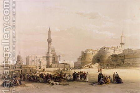 The Entrance to the Citadel of Cairo, from Egypt and Nubia, Vol.3 by David Roberts - Reproduction Oil Painting