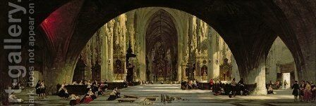 The Cathedral of St. Stephens, Vienna by David Roberts - Reproduction Oil Painting