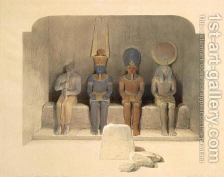 Sanctuary of the Temple of Abu Simbel, from Egypt and Nubia, Vol.1 by David Roberts - Reproduction Oil Painting