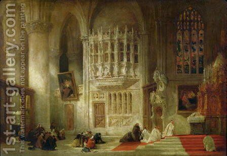 Toledo Cathedral by David Roberts - Reproduction Oil Painting