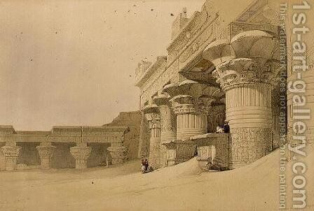 Temple of Horus, Edfu, from Egypt and Nubia, Vol.2 by David Roberts - Reproduction Oil Painting