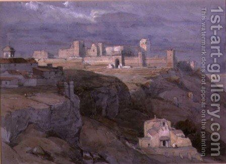 The Alcazar of Carmona, Andalusia by David Roberts - Reproduction Oil Painting