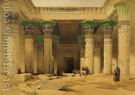 Grand Portico of the Temple of Philae, Nubia, from Egypt and Nubia, Vol.1 by David Roberts - Reproduction Oil Painting