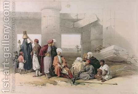 Entrance of the Temple of Amus II at Goorha, Thebes, from Egypt and Nubia, Vol.1 by David Roberts - Reproduction Oil Painting