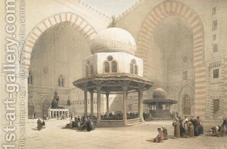Interior of the Mosque of the Sultan El Ghoree, Cairo, from Egypt and Nubia, Vol.3 by David Roberts - Reproduction Oil Painting