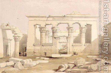 Portico of the Temple of Kalabshah, from Egypt and Nubia, Vol.1 by David Roberts - Reproduction Oil Painting