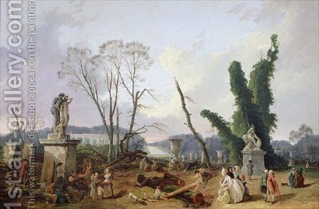 The Gardens of Versailles by Hubert Robert - Reproduction Oil Painting
