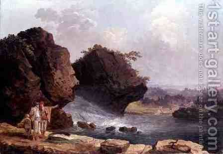 The Cascade by Hubert Robert - Reproduction Oil Painting