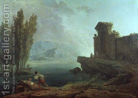 Landscape by Hubert Robert - Reproduction Oil Painting