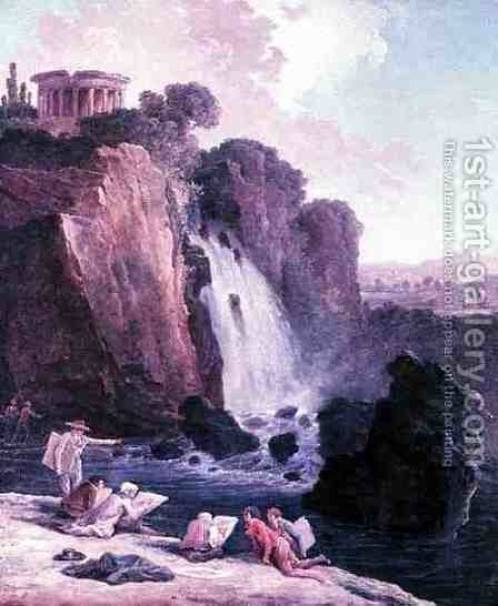 The Sketching Party by Hubert Robert - Reproduction Oil Painting