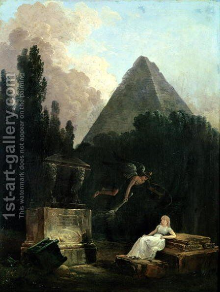 Spirit of the Tomb by Hubert Robert - Reproduction Oil Painting