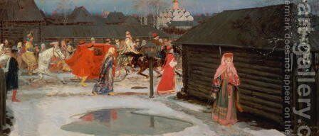 The Wedding Procession by Andrei Petrovitch Rjabuschkin - Reproduction Oil Painting