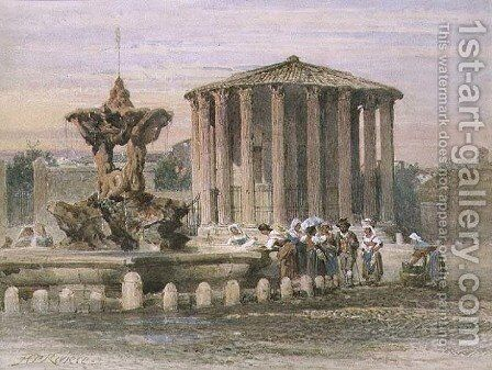 Fountain in Rome by Henry Parsons Riviere - Reproduction Oil Painting