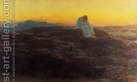 Christ in the Wilderness, 1898 by Briton Rivière - Reproduction Oil Painting