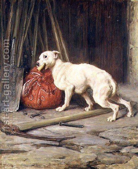 Petty Larceny by Briton Rivière - Reproduction Oil Painting