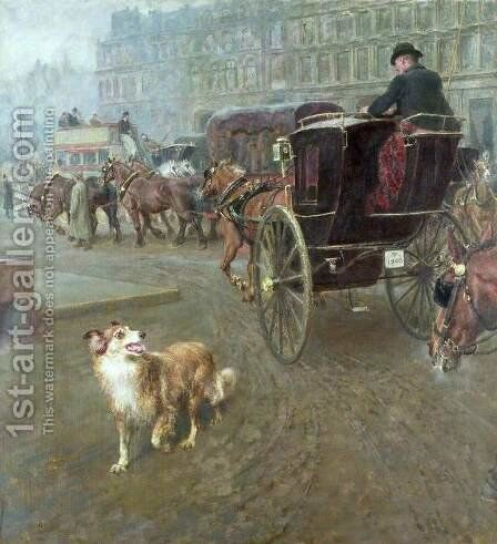 Lost or Strayed by Briton Rivière - Reproduction Oil Painting