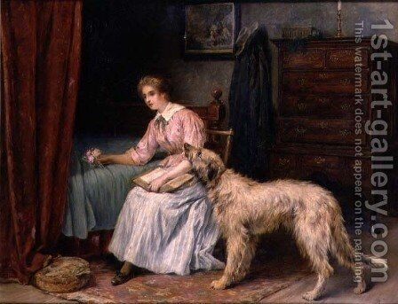 Faithful by Briton Rivière - Reproduction Oil Painting