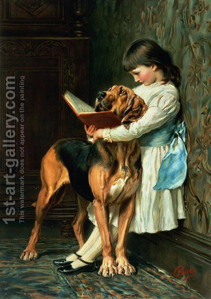Naughty Boy or Compulsory Education by Briton Rivière - Reproduction Oil Painting