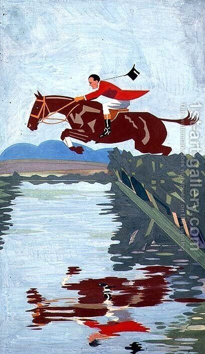 Water Jump by Alick P.F. Ritchie - Reproduction Oil Painting