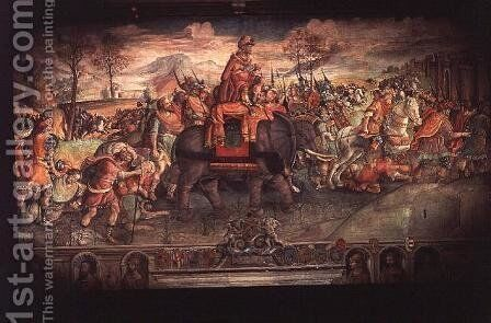 Hannibal Crossing the Alps by Jacopo Ripanda - Reproduction Oil Painting