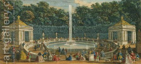 The Domes in the Garden at Versailles, pub. by Laurie and Whittle, 1794 by Jacques Rigaud - Reproduction Oil Painting
